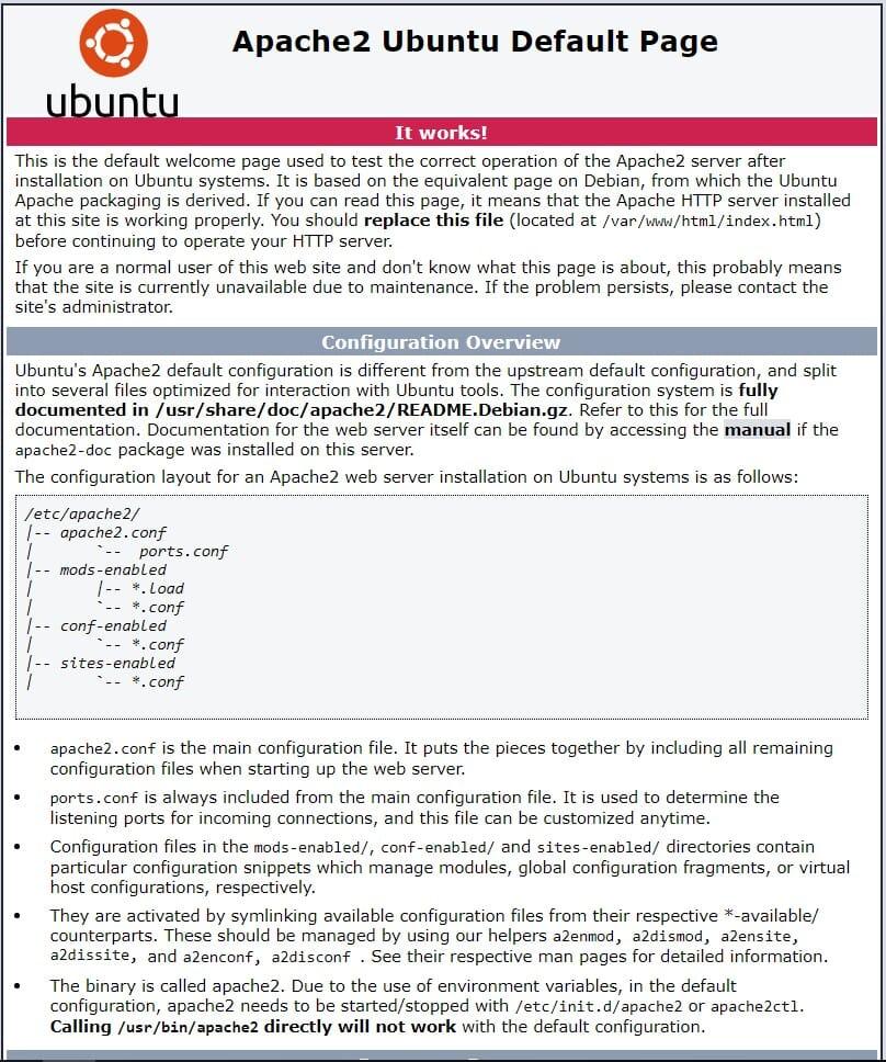 installing lamp on ubuntu 18.04