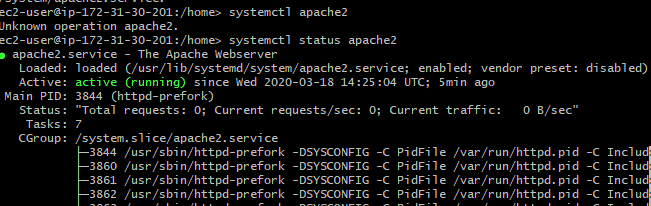 Step 2: Continuation - Installing Apache