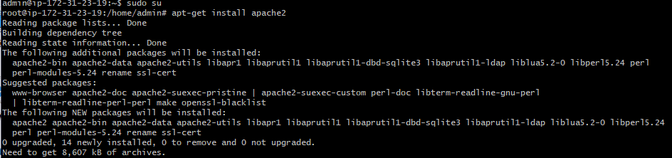 apt-get install apache2
