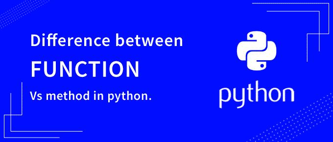 function vs method in python
